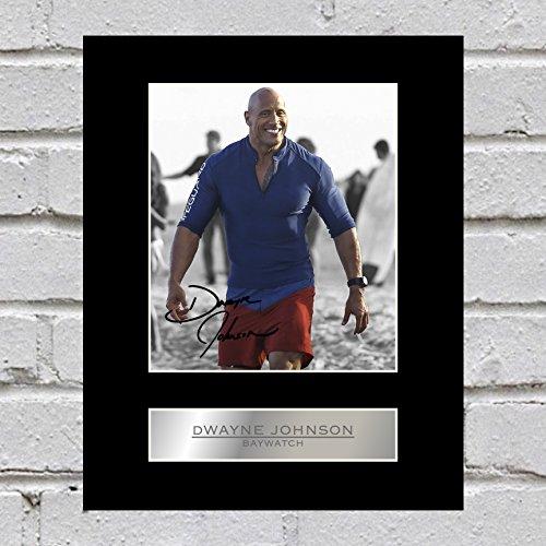 Dwayne Johnson Signiert Foto Display Baywatch -