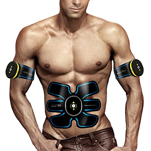 Bauchmuskeltrainer Elektrisch Elektrostimulator Muskel EMS-Training Mann/Frauen Massage-gürtel Elektrostimulation Fettverbrennungn Massage-gerät