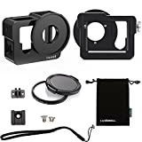 Luxebell Gopro Hero 4 Case Aluminium Metal Skeleton Thick Solid Protective Case With 52mm Uv Filter for GoPro 4 Camera