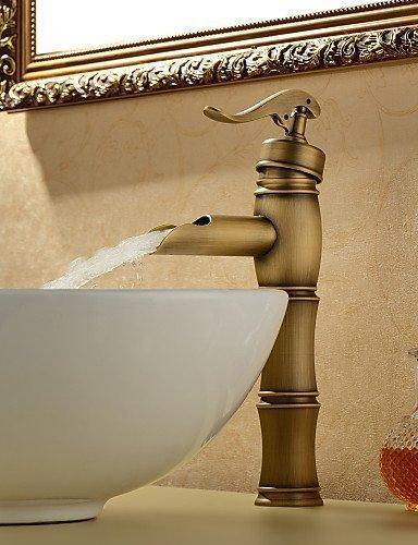 Waschtischarmaturen Traditional Brass Antique Brass - Antique Nickel Gebürstet Glas
