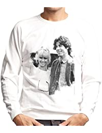 John Travolta Olivia Newton John Grease Release UK 1978 Mens Sweatshirt