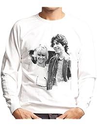 John Travolta Olivia Newton John Grease Release UK 1978 Mens Sweatshirt