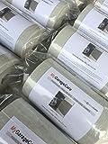 Paracolpi per Pareti Garage e box Auto, 1 x pannello autoadesivo - misura 200 x 20 x 0,5 cm spessore - colore grigio scuro RAL 7023 in Polietilene - protezione fiancata portiera auto, tampone paraurti