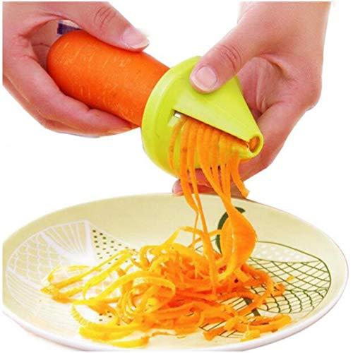 AYRSJCL Funnel Modelo en Espiral Vegetable Slicer Shred Zanahoria Rábano Cortador Shredded Tornillo...