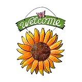 Wandsticker & Wandfiguren Wandaufkleber Europäischen Pastoralen Land Schmiedeeiserne Blume Sunflower Dekoration Wandbehang Wanddekoration Geschenk (Color : Yellow, Size : 42 * 30cm)