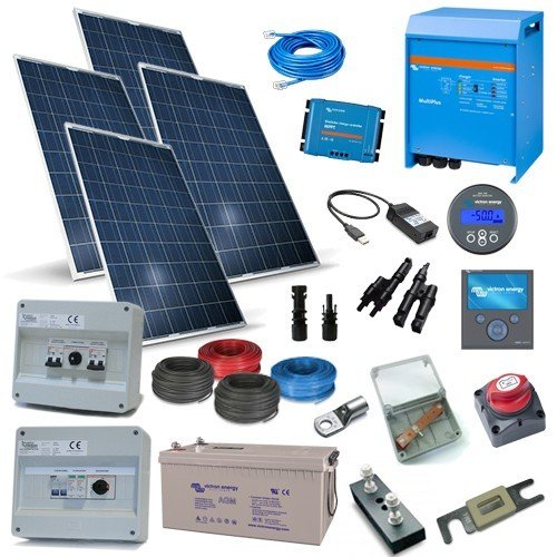 Kit Solarhaus Plus 4Kw 48V Victron Energy Photovoltaik-Anlage Akkumulation