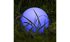 Lampada Solare da Esterno, Homever Lampada Solare da Luce d'atmosfera a 9 Colori Regolabile,Lunga Durata 8 ore, IP67 Impermeabile, Solare per Giardino, Stagno, Patio