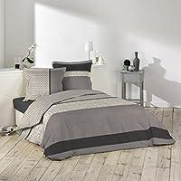 Douceur d'Intérieur - Lorenzo-Juego de cama con 2fundas de almohada de algodón multicolor, algodón, multicolor, 240 x 260 cm