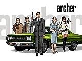 Archer (32x24 inch / 80x60 cm) Silk Print Poster Seide Plakat - Silk Printing - 17C520