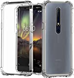 #10: Tech Attires Nokia 6.1 Transparent Ultra Protection Rubberised Crystal Clear Back Phone Cover for Nokia 6.1