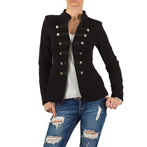 Admiral Uniform Blazer Jacke Für Damen , Schwarz In Gr. L bei Ital-Design (Blazer Design)