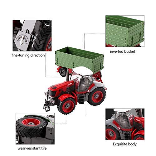 RC Auto kaufen Traktor Bild 3: 332PageAnn Rc Ferngesteuerter Traktor Spielzeug Mit Anhänger - 6 Kanal 1:28 Simulationsfahrzeug Geburtstagsgeschenk Für Kinder*