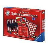 Spielesammlung FC Bayern MÜNCHEN FCB + gratis Sticker 'München forever' / enthält Backgammon, Dame, Pachisi und Mühle, FCB
