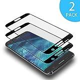 AdoN Samsung Galaxy S6 Edge Panzerglas Schutzfolie, [2 Stück] Displayschutzfolie für Panzerfolie Galaxy S6 Edge, HD Anti-Öl, 9H Anti-Kratzen 3D Panzerglasfolie für Samsung Galaxy S6 Edge