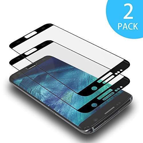 AdoN Galaxy S6 Edge Panzerglas Schutzfolie,2 Stück 3D Full Cover Panzerglasfolie für Samsung Galaxy S6 Edge,9H HD Anti-Öl,Anti-Kratzen Bildschirmschutzfolie für Galaxy S6 Edge Nicht für S6