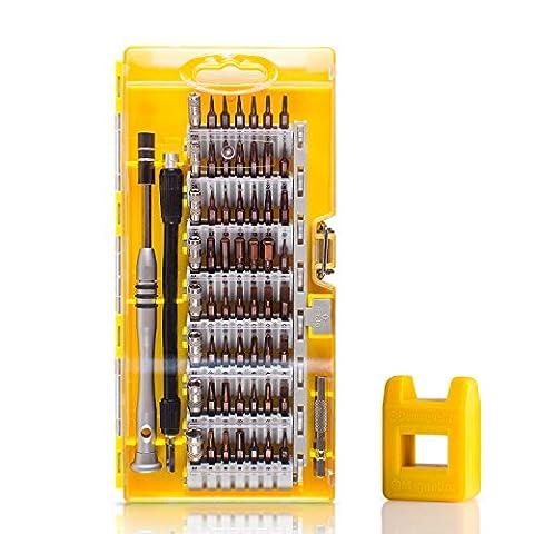 Update Version 61 in 1 Magnet Schraubendreher Kit S2 Stahl Magnetic Driver Set mit 56 Bits für Laptop, PSP, PC, iPhone, MacBook, Smartphones, Uhren und Andere Geräte