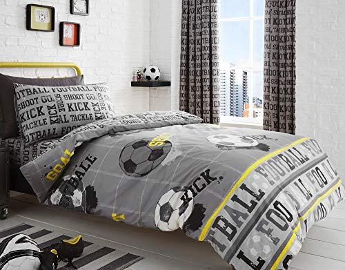 Bedlam Football Parure de lit, 52% Polyester 48% Coton, Gris, Double