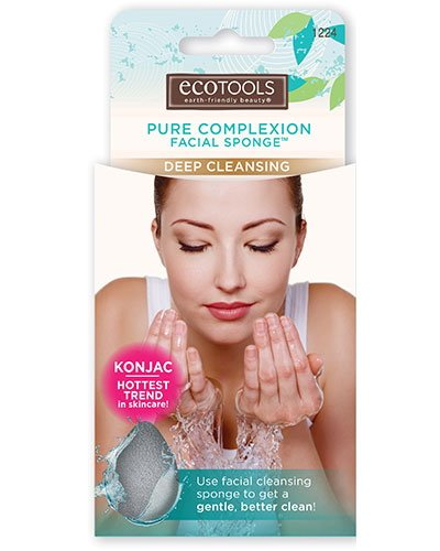 (3 Pack) EcoTools Pure Complexion Facial Sponge - Deep Cleansing - Charcoal