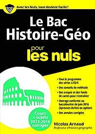 Le Bac Histoire Géo 2016 pour les Nuls par Nicolas Arnaud