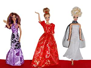 Dresses for Barbie - The Red Carpet Collection (3 Dress Set) - DOLLS NOT INCLUDED