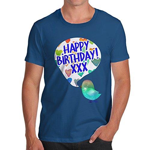 Herren Happy Birdy Birthday T-Shirt Königsblau