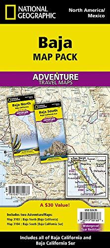 Baja [map Pack Bundle] (National Geographic Adventure Map)