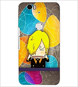 PrintDhaba Cartoon D-3339 Back Case Cover for HUAWEI NEXUS 6P (Multi-Coloured)