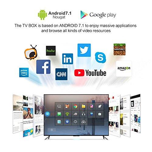 TV Box Android 7.1 – VIDEN Smart TV Box Amlogic S905X Quad-Core, 1GB RAM & 8GB ROM, Video 4K UHD H.265, 2 Porte USB, HDMI, WiFi Web TV Box + Telecomando [Nuova versione] - 2