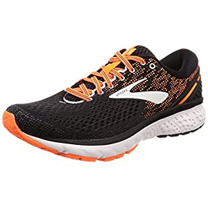 Brooks Ghost 11, Zapatillas de Running para Hombre, Multicolore (Black/Silver/Orange 093), 44 EU