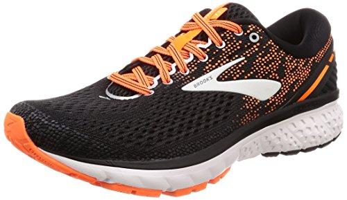 Brooks Ghost 11, Zapatillas de Running para Hombre, Multicolore (Black/Silver/Orange 093), 44 EU