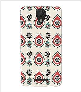 Fuson Premium Oval Design Printed Hard Plastic Back Case Cover for Xiaomi Redmi Note 2