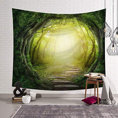 Maniküre Mandel (mmzki Mädchen Zimmer Nordic Schlafzimmer Dekoration Stoff Wandteppich schönen Wald 1 203x150)