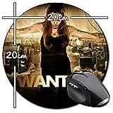 Wanted Angelina Jolie Tapis De Souris Ronde Round Mousepad PC