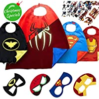 LAEGENDARY Superhero Capes for Kids with Masks - Super Hero Toys & Costumes - Birthday Party Supplies