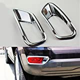 Wotefusi Car New Pair 2 Pieces ABS Rear Fog Lamp Light Foglight Foglamp Cover Moulding Molding Trim Set For Jeep Compass 2011-2016 2012 2013 2014 2015
