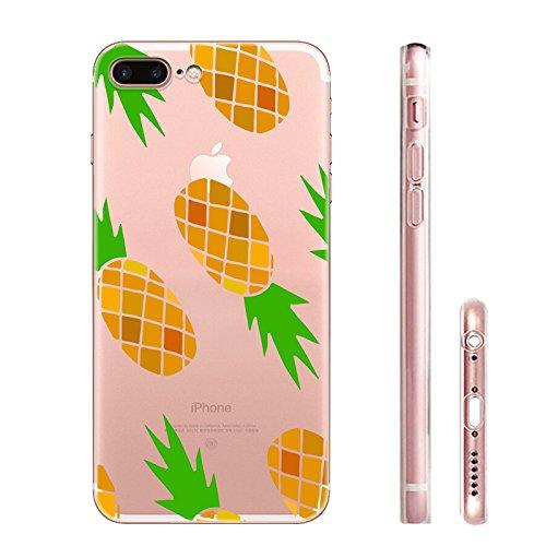 IPHONE 7plus Hülle Meerjungfrau Ananas Liebe Muster TPU Silikon Schutzhülle Handyhülle Case - Klar Transparent Durchsichtig Clear Case für iPhone 7 plus hw5