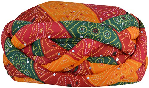Shahi Safa Men's Synthetic Turban (Multi-coloured)