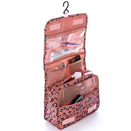 Shopper Joy Kulturtasche Kulturbeutel zum Aufhängen Kosmetiktasche Waschtasche Reisetasche für Damen Herren Kinder für Reise Zugreise Camping Outdoor - Leopard