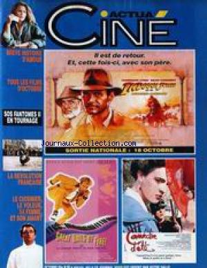 ACTUA CINE [No 89] du 01/10/1989 - BREVE...