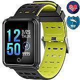 Vetté Fitness Smartwatch Wasserdicht, Pulsmesser, Fitness Tracker, Schrittzähler, Schlaf-Monitor,Setz-Alarm, Stoppuhr, SMS-Anruf Benachrichtigung Push/Kamera, für Android und iOS
