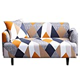 Printed Sofa Cover Stretch Couch Cover Sofa Slipcovers for Couches and Loveseats with One Free Pillow Case Elastic Force All Inclusive Full Cover Non-Slip [Loveseat]