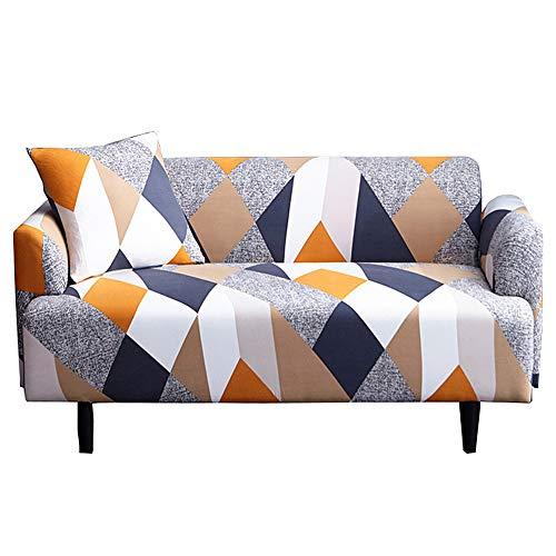 Bedruckter Sofabezug Stretch Couch-Bezug Sofa-Schonbezüge für Couches und Loveseats mit Einem kostenlosen Kissenbezug, elastische Kraft All Inclusive Vollbezug Anti-Rutsch [Loveseat]