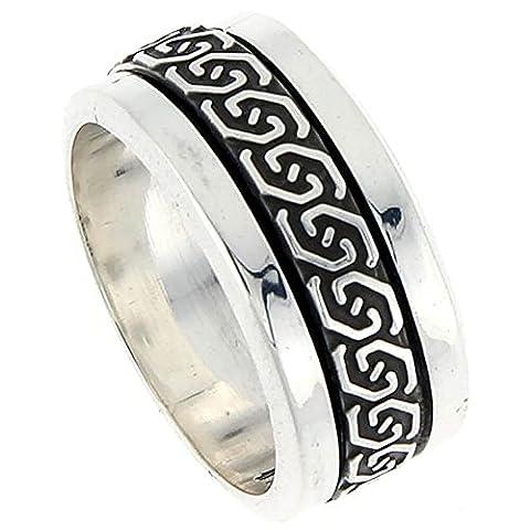 Sterling Silver Men's Spinner Ring Celtic Knot Design Handmade, Size R