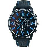 ES Trader® Casual Quartz Mens Military Watches Stainless Steel Analog Sport Wrist Watch