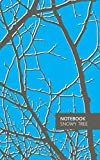 Notebook - Snowy Tree: (Night Sky Blue) Fun notebook 96 ruled/lined pages (5x8 inches / 12.7x20.3cm / Junior Legal Pad / Nearly A5)
