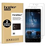 VGUARD [Lot de 2] Verre Trempé Nokia 8 [Garantie à Vie], Film Protection en Verre trempé écran Protecteur - Anti Rayures - sans Bulles d'air -Ultra Résistant Dureté 9H Glass Screen Protector Nokia 8
