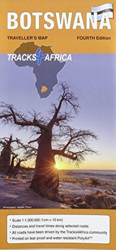 Botswana GPS-Tracks Karte 1 : 1 000 000