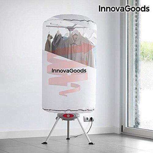 InnovaGoods - Asciugatrice per Vestiti Portatile, in Alluminio e policarbonato, Colore: Bianco, 65x 65x 150cm