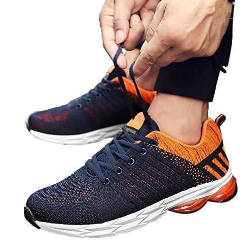 JiaMeng Hombre Zapatillas de Senderismo Deportivas Aire Libre y Deportes Montaña y Asfalto Zapatos para Correr Deporte Zapatos Ocasionales Respirables Gimnasio