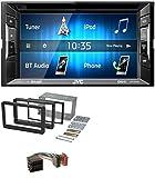 caraudio24 JVC KW-V240BT DVD USB MP3 2DIN Bluetooth CD Autoradio für Alfa Romeo 159 Spider Brera ab 05 Navi